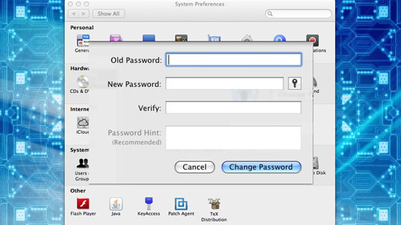 Change a Network Account Password on Mac OSX